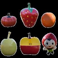 Mô hình composite trái cây trang trí