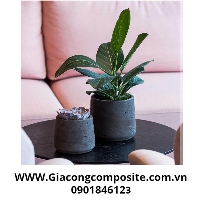 Chậu hoa composite đẹp thiết kế đơn giản