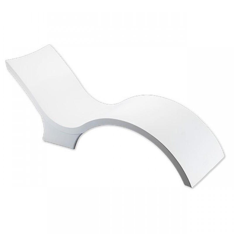 Ghế tắm nắng chữ s có chân composite cao cấp hiện đại