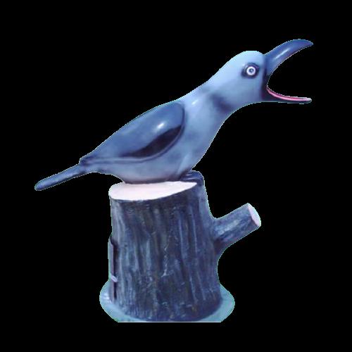 Thùng rác ngoài trời hình chú chim dể thương